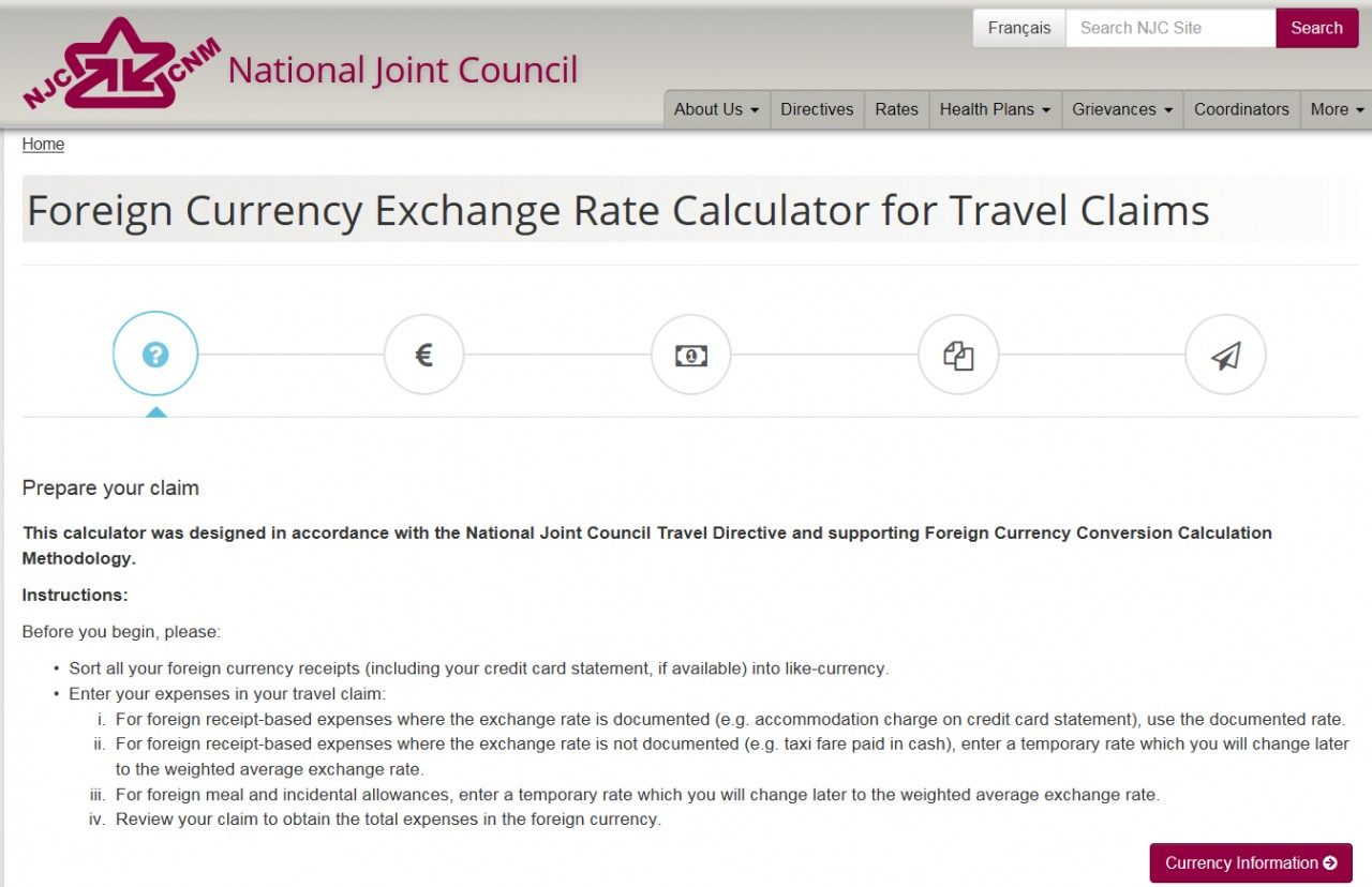 Foreign Currency Exchange Rate Calculator screenshot - Page 1 of 5