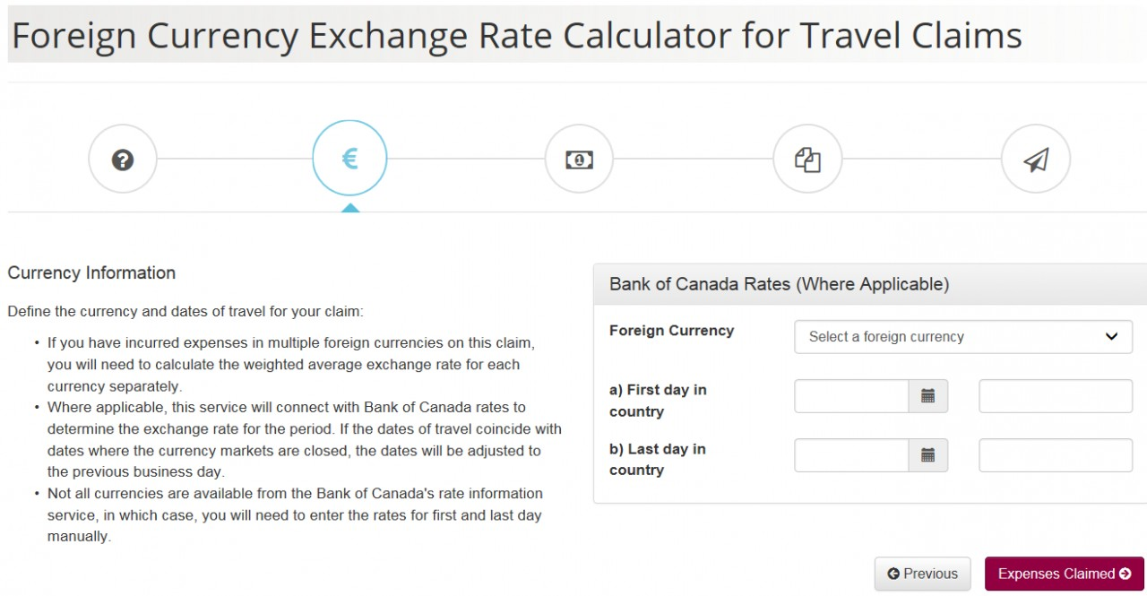Foreign Currency Exchange Rate Calculator screenshot - Page 2 - Currency Information