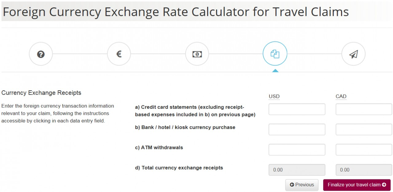 Foreign Currency Exchange Rate Calculator screenshot - Page 4 - Currency Exchange Receipts